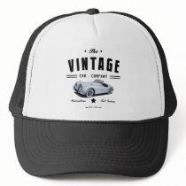 Vintage Jaguar Car Garage Trucker Hat
