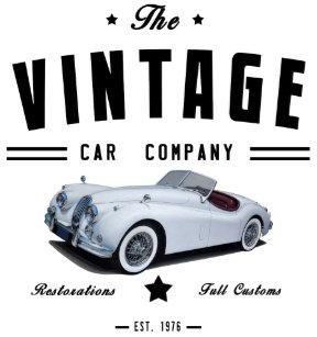 3dbb08131c7bd Vintage Jaguar Car Garage Trucker Hat