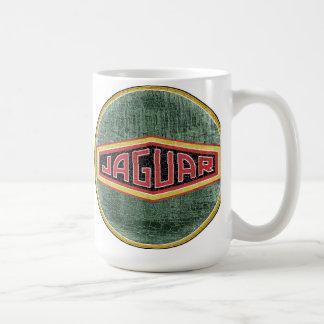 Vintage Jaguar cars sign Classic White Coffee Mug