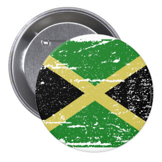 Vintage Jamaica Flag Pinback Button