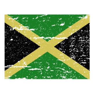 Vintage Jamaica Flag Postcard