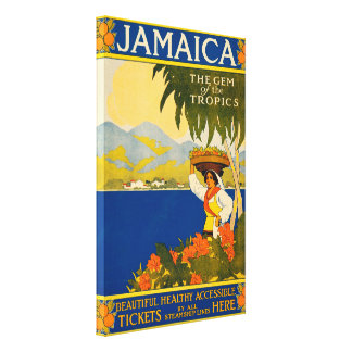 Vintage Jamaica, The Gem of the Tropics Canvas Print