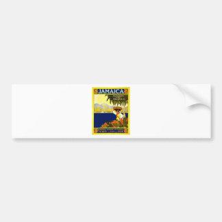 vintage-jamaica-travel-poster. car bumper sticker