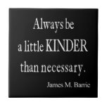 Vintage James Barrie Kinder than Necessary Quote Tiles