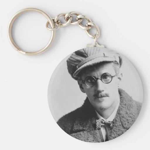 Vintage James Joyce Portrait Key Chains