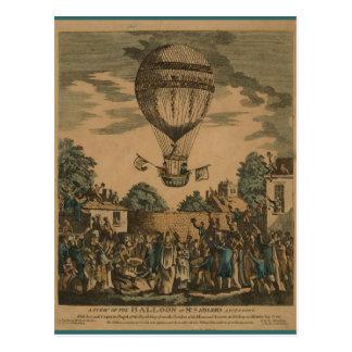 Vintage James Sadler Hot Air Ballon Postcard
