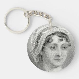 Vintage Jane Austen Illustration Keychain