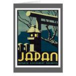 Vintage Japan Railways Greeting Card