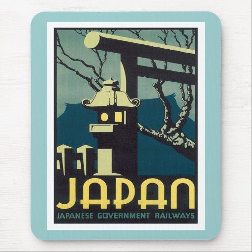 Vintage Japan Railways Mouse Pad