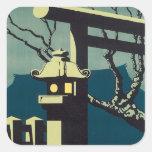 Vintage Japan Railways Square Sticker