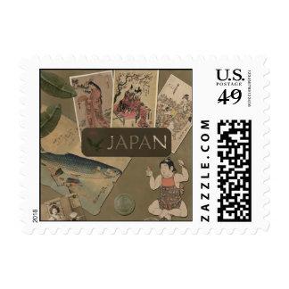 """Vintage """"Japan"""" Scrapbook Postage Stamp"""