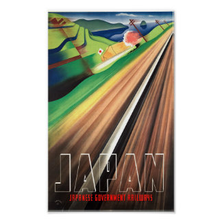 Vintage Japan Train Travel Poster