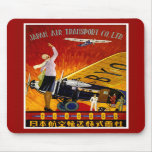 Vintage Japanese Airline Ad Mouse Pads