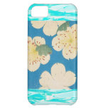 Vintage Japanese Apple Blossoms On Blue Cover For iPhone 5C