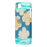Vintage Japanese Apple Blossoms On Blue iPhone 5 Case