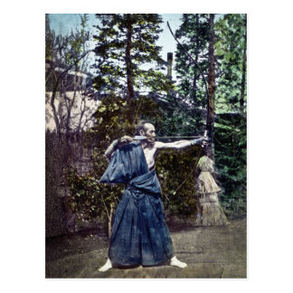 Vintage Japanese Archer 射手 Post Card
