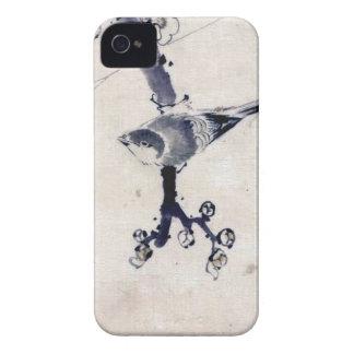 VINTAGE JAPANESE ART BIRD CHERRY BLOSSOM Case-Mate iPhone 4 CASE