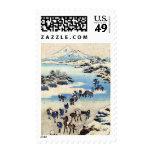 Vintage Japanese Art Christmas Postage Stamp