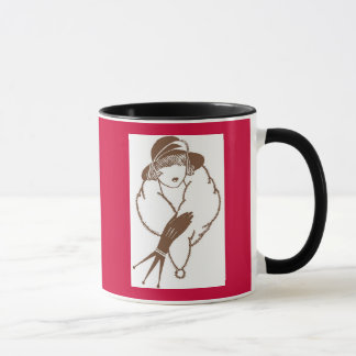 Vintage Japanese Art Deco Lady, 1933 Mug