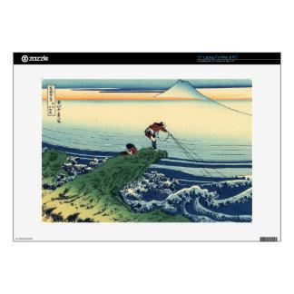 Vintage Japanese Art Kajikazawa Fisherman Laptop Decals