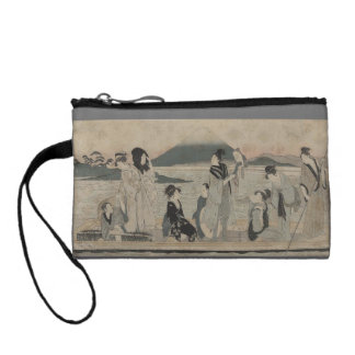 Vintage Japanese art on the water Coin Wallets