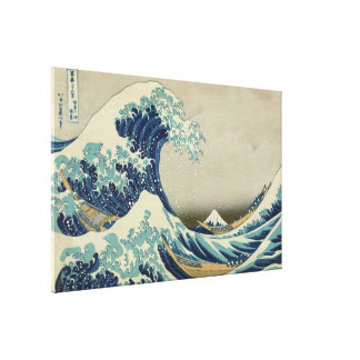 Vintage Japanese Art, The Great Wave by Hokusai Canvas Print