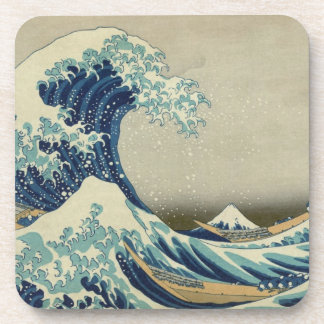Vintage Japanese Art, The Great Wave by Hokusai Coaster