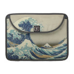Vintage Japanese Art, The Great Wave by Hokusai Sleeves For MacBook Pro