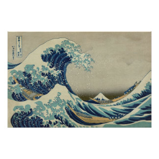 Vintage Japanese Art, The Great Wave by Hokusai Poster