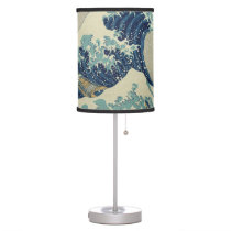 Vintage Japanese Art, The Great Wave by Hokusai Table Lamp