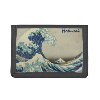 Vintage Japanese Art, The Great Wave by Hokusai Trifold Wallet