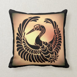 Vintage Japanese Art Throw Pillow