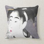 Vintage Japanese Art Throw Pillows