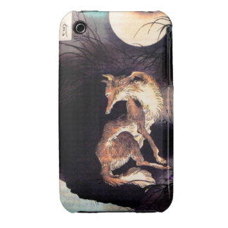 Vintage Japanese Asian Red Fox Case
