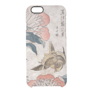 Vintage Japanese Bird And Flower Clear iPhone 6/6S Case