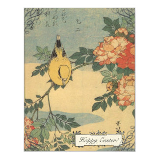 "Vintage Japanese Bird Easter Cards 4.25"" X 5.5"" Invitation Card"