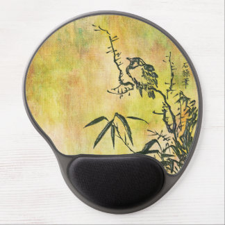 Vintage Japanese Bird Gel Mouse Pad