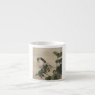 Vintage Japanese Bird Painting Espresso Cup