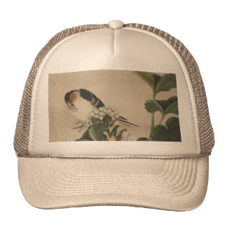 Vintage Japanese Bird Painting Trucker Hat