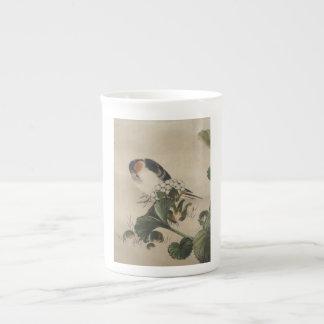 Vintage Japanese Bird Painting Tea Cup