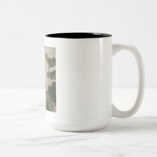 Vintage Japanese Bird Painting Two-Tone Coffee Mug
