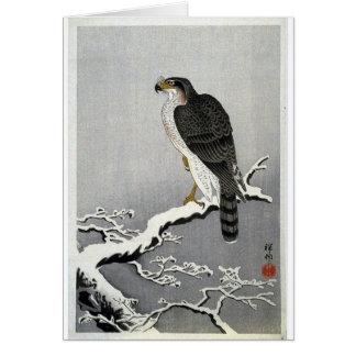 Vintage Japanese Bird Print Card