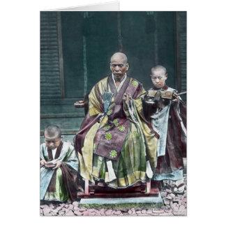 Vintage Japanese Buddhist Monks Japan 僧 Card