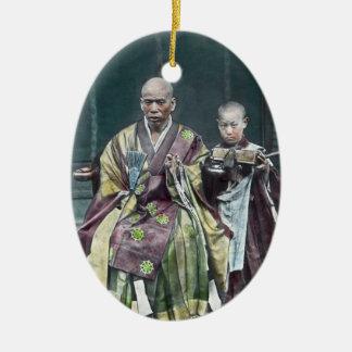 Vintage Japanese Buddhist Monks Japan 僧 Ceramic Ornament