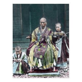 Vintage Japanese Buddhist Monks Japan 僧 Postcard