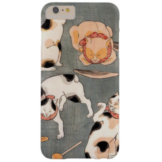 Vintage Japanese Cat Art Barely There iPhone 6 Plus Case