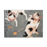 Vintage Japanese Cat Art iPad Mini Covers