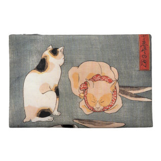 Vintage Japanese Cat Art Travel Accessory Bags