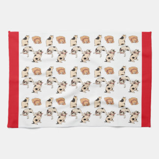 Vintage Japanese Cats In Four Different Poses Art Towel