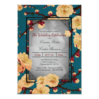 Japanese invitations announcements zazzle vintage japanese cherry blossom wedding invitation stopboris Image collections